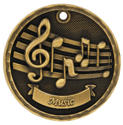 Music 3-D Medal