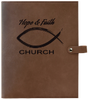 Leather Snap Closure Bible & Book Cover