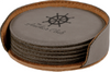 Leather Coaster Sets Round