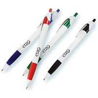 White European Design Ballpoint Pen with Rubber Grip