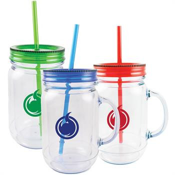 Mason Jar Style Cup with Handle