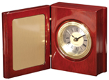 Rosewood Piano Finish Book Clock