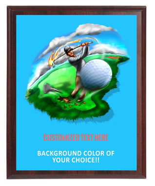 Golf Big Hit Plaque