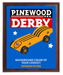 Pinewood Derby Plaque