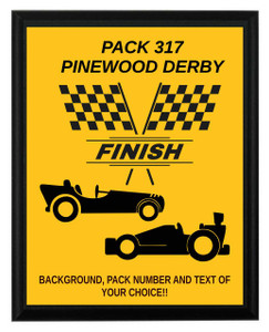 Pinewood Derby Finish Plaque