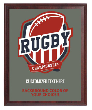 Rugby Championship Plaque