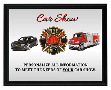 Fire Dept. Car Show Plaque