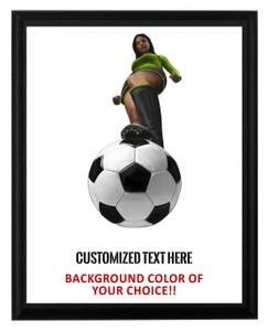 Soccer Female Plaque