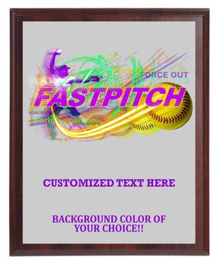 Fastpicth Softball Plaque