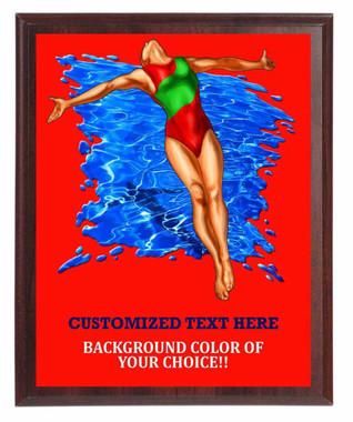 Swimming Female Plaque