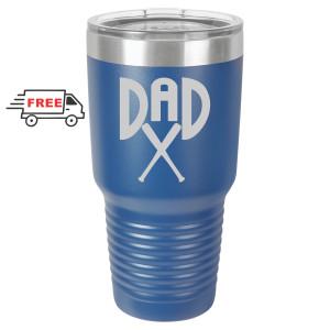 Baseball Dad 30oz Stainless Steel Tumbler