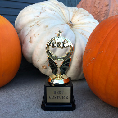 Haunted Pumpkin Halloween Trophy