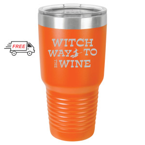 Halloween Witch Way 30oz Stainless Steel Tumbler