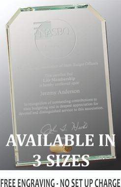 Clipped Crystal Edge Glass Award