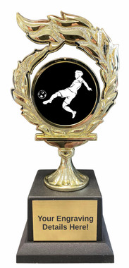 Soccer Flame Trophy