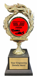 Pinewood Derby Flame Trophy