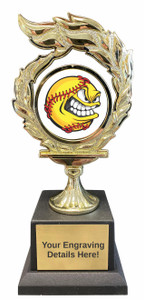 Softball Flame Trophy