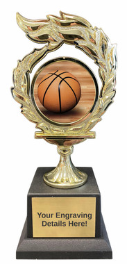 Basketball Flame Trophy