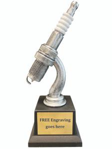 Spark Plug Car Show Trophy