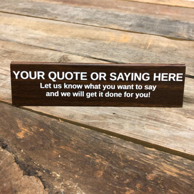 Custom Engraved Tented Sign