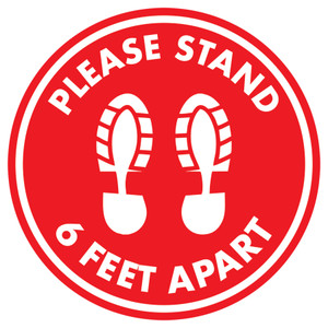 6 FEET APART FLOOR GRAPHIC
