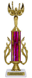 13 Inch SPECIAL TROPHY w/ FLAMES