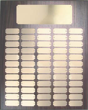 Walnut finish 16x20 plaque 60 1 x 2 /1/2 plates