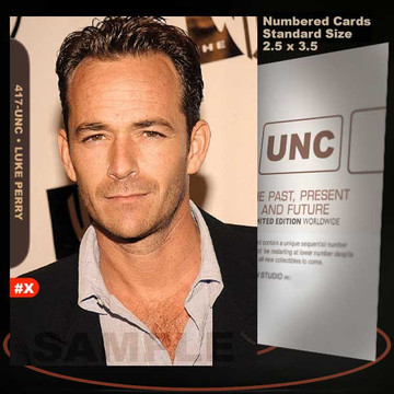 Luke Perry [ # 417-UNC ] Numbered and Limited / Size 2.5 x 3.5
