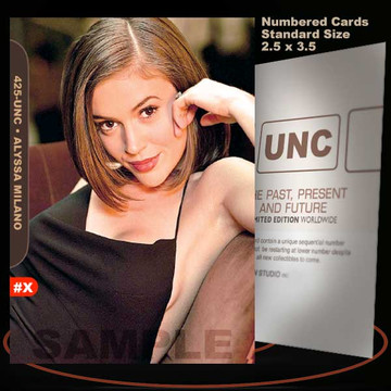 Alyssa Milano [ # 425-UNC ] Numbered and Limited / Size 2.5 x 3.5