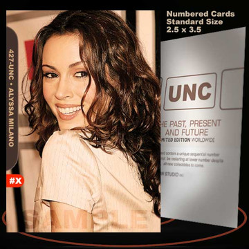 Alyssa Milano [ # 427-UNC ] Numbered and Limited / Size 2.5 x 3.5