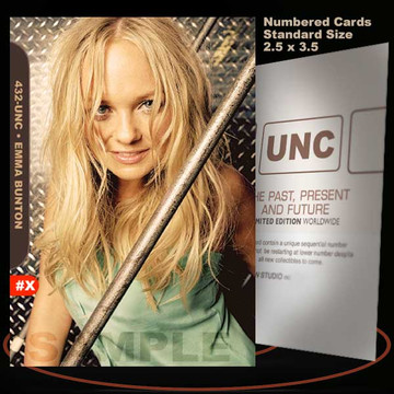 Emma Bunton [ # 432-UNC ] Numbered and Limited / Size 2.5 x 3.5