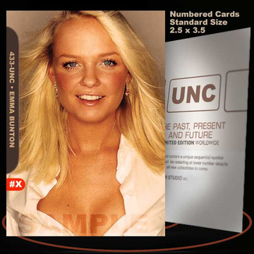 Emma Bunton [ # 433-UNC ] Numbered and Limited / Size 2.5 x 3.5