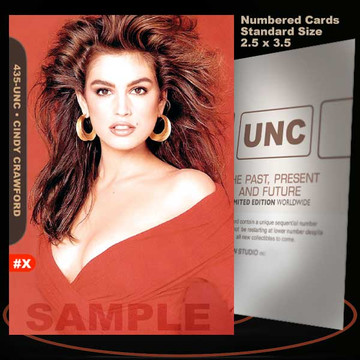 Cindy Crawford [ # 435-UNC ] Numbered and Limited / Size 2.5 x 3.5