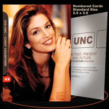 Cindy Crawford [ # 436-UNC ] Numbered and Limited / Size 2.5 x 3.5