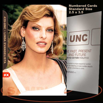 Linda Evangelista [ # 439-UNC ] Numbered and Limited / Size 2.5 x 3.5