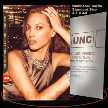 Christy Turlington [ # 440-UNC ] Numbered and Limited / Size 2.5 x 3.5