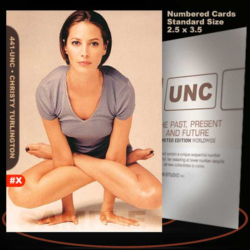 Christy Turlington [ # 441-UNC ] Numbered and Limited / Size 2.5 x 3.5
