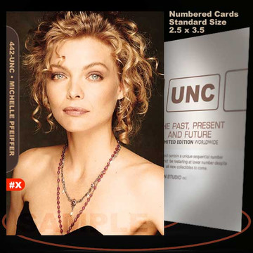 Michelle Pfeiffer [ # 442-UNC ] Numbered and Limited / Size 2.5 x 3.5