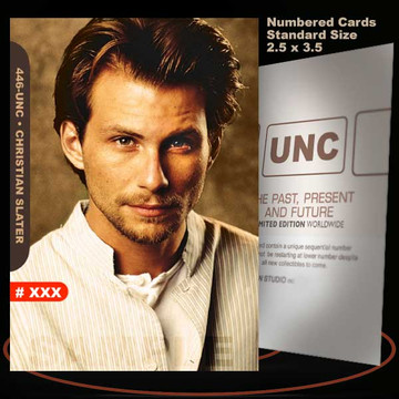Christian Slater [ # 446-UNC ] Numbered and Limited / Size 2.5 x 3.5