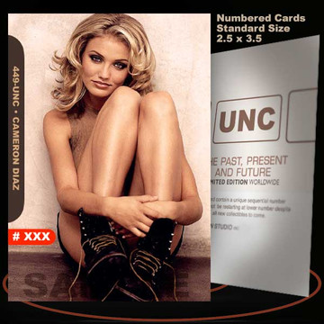 Cameron Diaz [ # 449-UNC ] Numbered and Limited / Size 2.5 x 3.5
