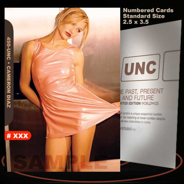 Cameron Diaz [ # 450-UNC ] Numbered and Limited / Size 2.5 x 3.5