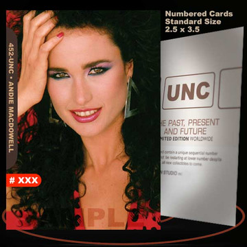 Andie Macdowell [ # 452-UNC ] Numbered and Limited / Size 2.5 x 3.5