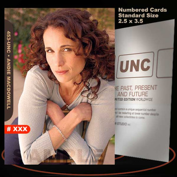 Andie Macdowell [ # 453-UNC ] Numbered and Limited / Size 2.5 x 3.5
