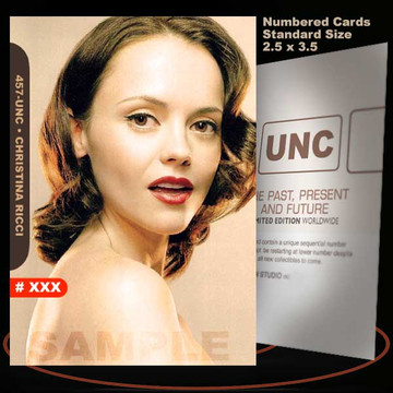Christina Ricci [ # 457-UNC ] Numbered and Limited / Size 2.5 x 3.5