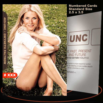 Gwyneth Paltrow [ # 469-UNC ] Numbered and Limited / Size 2.5 x 3.5