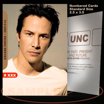 Keanu Reeves [ # 514-UNC ] Numbered and Limited / Size 2.5 x 3.5