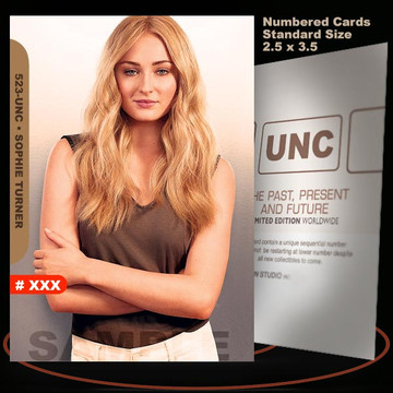 Sophie Turner [ # 523-UNC ] Numbered and Limited / Size 2.5 x 3.5