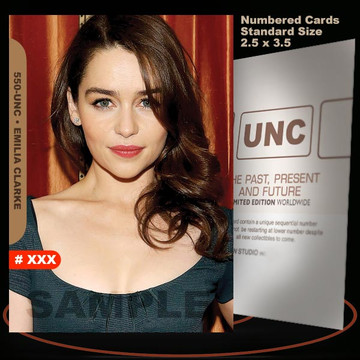 Emilia Clarke [ # 550-UNC ] Numbered and Limited / Size 2.5 x 3.5