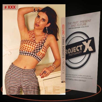 Emma Roberts [ # 622-UNC ] PROJECT X Numbered cards / Limited Edition