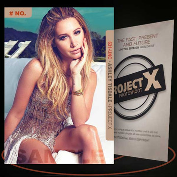 Ashley Tisdale [ # 631-UNC ] PROJECT X Numbered cards / Limited Edition